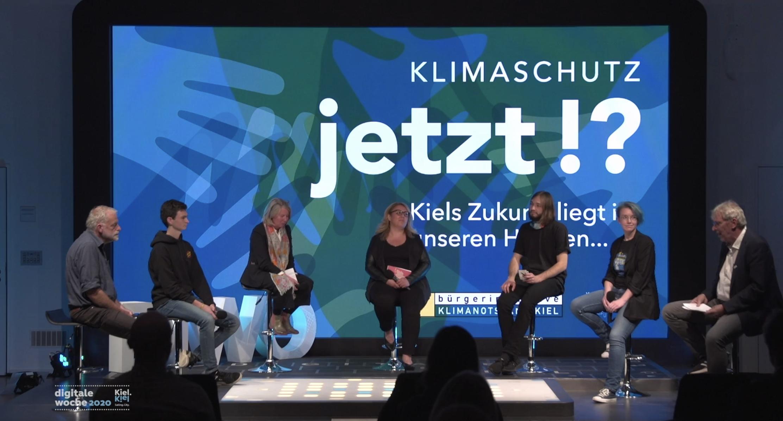 Klimaschutz -jetzt!? – Podiumsdiskussion auf der Digitalen Woche Kiel